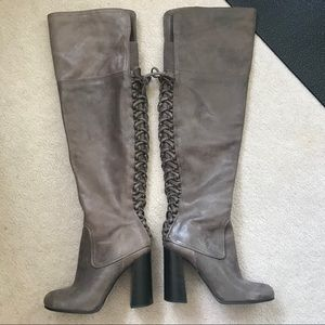 Like new Vice Camuto gray knee high boots size 8.5